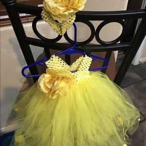 handmade Dresses - Tutu birthday/holiday dress and headband